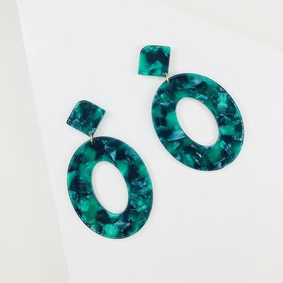 CLOSET REHAB Jewelry - 🆑 Emerald Green Oval Drops